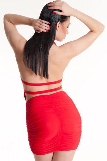 Erolanta платье, красное Очаровательное, с обнаженной спиной