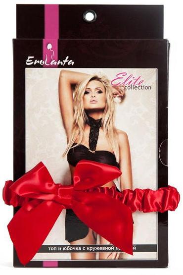 Erolanta комплект, черный Топ-бандо и юбочка на завязках