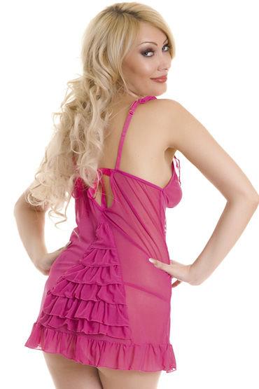 Erolanta комплект, розовый Комбинация с рюшами и стринги