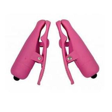 Toy Joy Nipple Twitterz, розовые, Вибрирующие клипсы на соски
