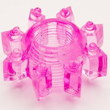 Toyfa кольцо, розовое, Эрекционное, в виде снежинки