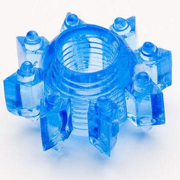Toyfa кольцо, синее, Эрекционное, в виде снежинки