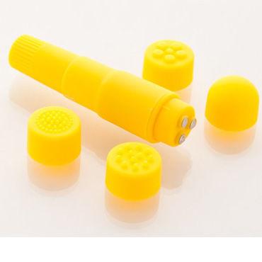 Sexus Funny Five вибратор, желтый, Водонепроницаемый, с насадками