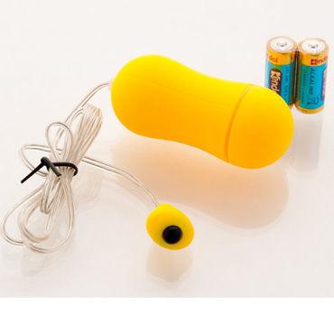 Sexus Funny Five виброяйцо, желтое, С выносным пультом управления