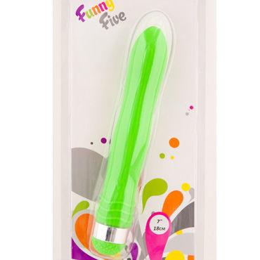 Sexus Funny Five вибратор, зеленый Водонепроницаемый