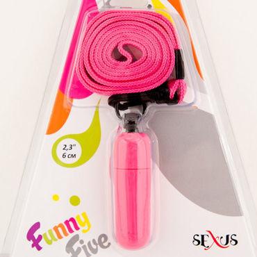Sexus Funny Five вибратор розовый Мини, с ремешком на шею