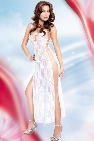 Soft Line комплект, белый, Длинная комбинация и стринги - Размер S-M от condom-shop.ru