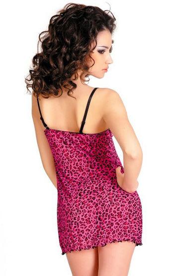 Erolanta комплект, розовый Леопардовая расцветка, плотные чашки