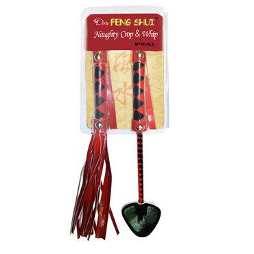 MyWorld плетка и стек 18 см, черно-красные Контрастные, отделаны бахромой