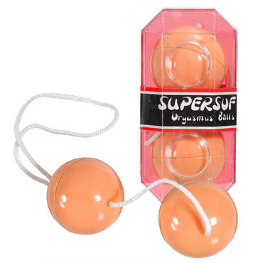 Scala шарики вагинальные, телесные Мягкие, со смещенным центром тяжести