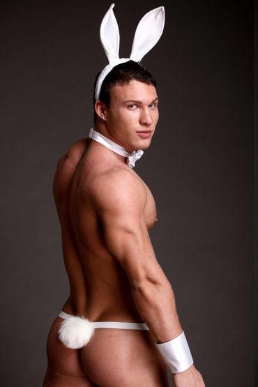 Flirt On Заяц, белый Озорной наряд для смелых мужчин