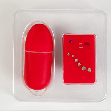 Toyfa вибратор, красный, Украшен стразами, с пультом дистанционного управления