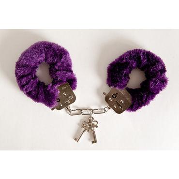 Toyfa наручники, 6см, фиолетовые, Покрыты мягким материалом, с изящными ключиками
