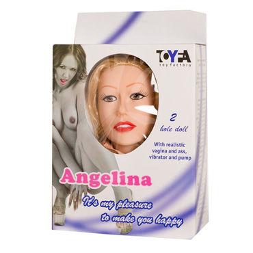 Toyfa кукла Ангелина, телесная Два рабочих отверстия, в комплекте вибратор и насос