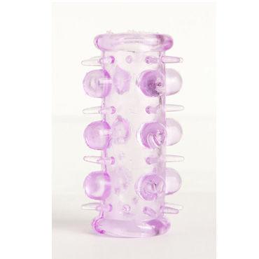 Toyfa набор насадок, фиолетовый, 5 штук, с шипами и пупырышками