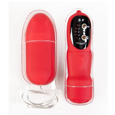 Toyfa вибратор, 7,6 см, красный, С пультом ДУ, яйцевидной формы