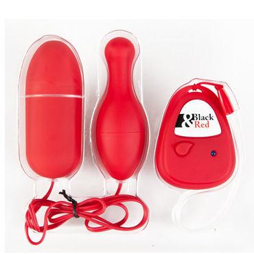 Toyfa набор виброяиц, красный, Яйцевидной и грушевидной формы, с пультом ДУ