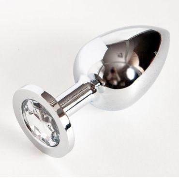Toyfa втулка, серебристая На подставке, с имитацией бриллианта