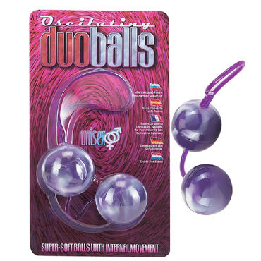 Dream Toys шарики вагинальные, 3,5 см, фиолетовые, Мягкие, со смещенным центром тяжести