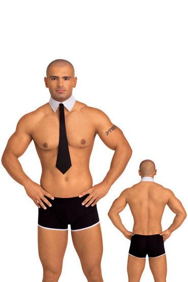 Roxana костюм джентльмена, черно-белый 2 предмета, галстук с белым воротничком