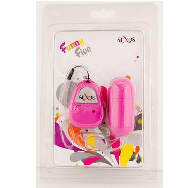 Sexus виброяйцо, розовое Приятное на ощупь, дистанционный пульт управления