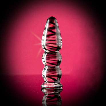 Sexus фаллоимитатор, 14,5 см, прозрачный Состоит из шариков, спиралевидный узор