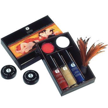 Shunga набор ''Секреты гейши'', 6 предметов, с кисточкой из перышек