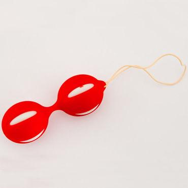 Toyfa вагинальные шарики, красные, Рельефной формы