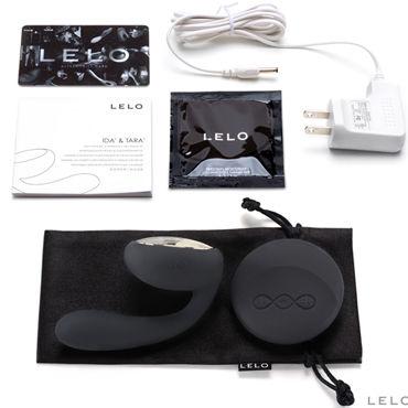 Lelo Ida, черный Первый в мире вибромассажер для пар с ротацией и дистанционным управлением