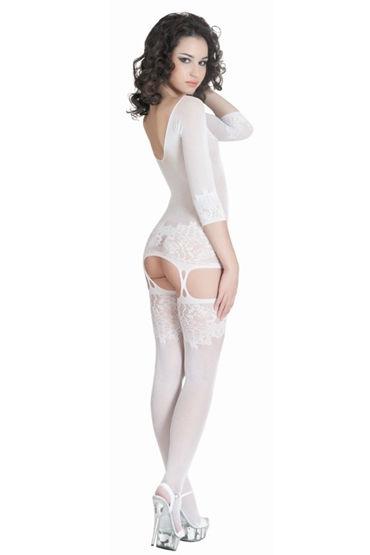 Erolanta кэтсьюит, белый Полупрозрачный, оригинального дизайна