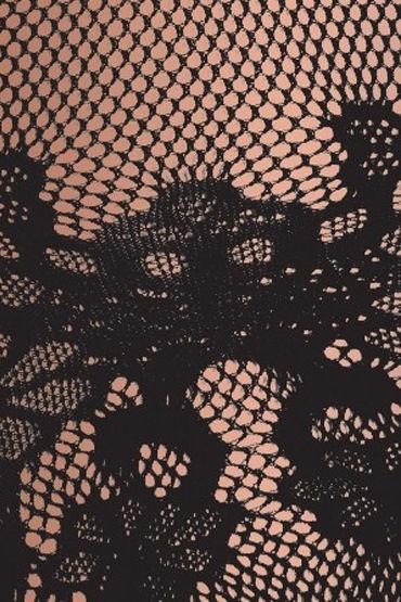 Erolanta кэтсьюит, черный С цветочным рисунком