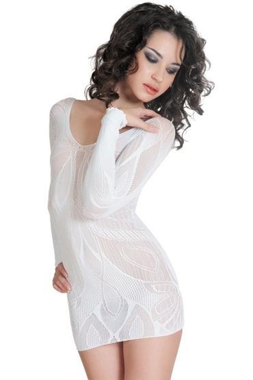 Erolanta платье, белое, C изящным орнаментом - Размер Универсальный (XS-L)