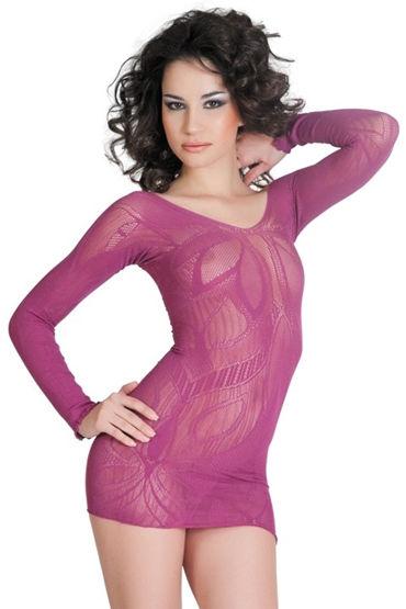 Erolanta платье, фиолетовое, C изящным орнаментом - Размер Универсальный (XS-L)