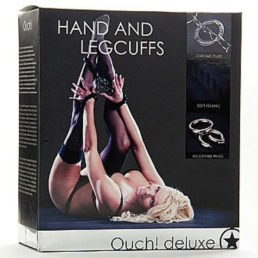 Ouch Hand and Leggcufs Наручник и оковы на ноги