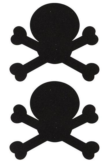 Ouch Nipple Stickers Пэстисы в виде черепов