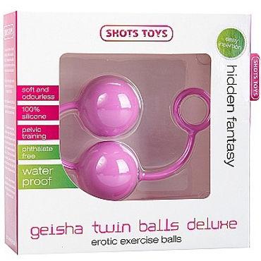 Shots Toys Geisha Twin Balls Deluxe, розовый Вагинальные шарики из силикона