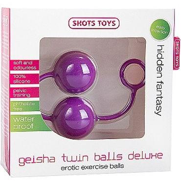 Shots Toys Geisha Twin Balls Deluxe, фиолетовый Вагинальные шарики из силикона