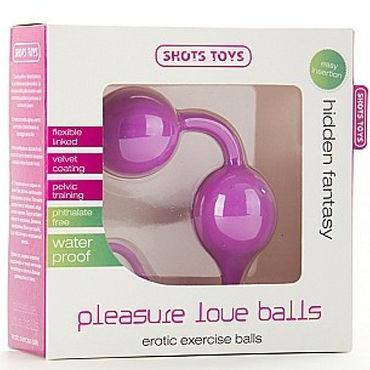 Shots Toys Pleasure Love Balls, розовый Гибкие вагинальные шарики