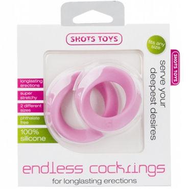 Shots Toys Endless Cocking Set, розовый Эластичные эрекционные кольца, 2 шт