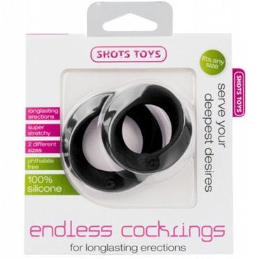 Shots Toys Endless Cocking Set, черный Эластичные эрекционные кольца, 2 шт