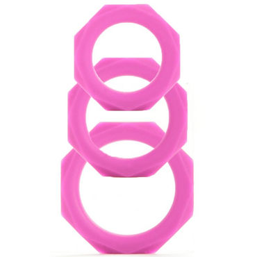 Shots Toys Octagon Rings, �������, ����� ����������� �����, 3 ��