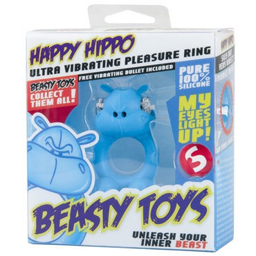 S-Line Beasty Toys Happy Hippo Виброкольцо в виде бегемотика