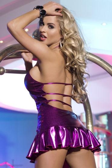 Candy Girl платье, фиолетовое С открытой спинкой