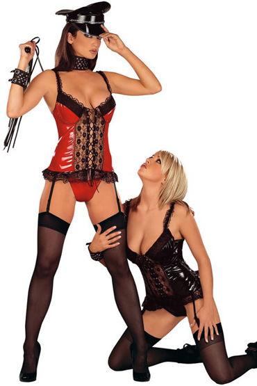 Roxana Домина, красно-черный Эротичный корсет и стринги