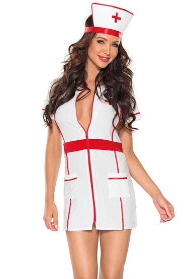 Roxana Костюм медсестры, Платье-мини и головной убор - Размер L/XL