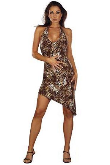 Roxana Платье Пантера С ассиметричной юбкой