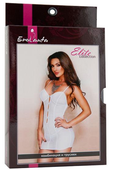 Erolanta Комплект, черный Комбинация с продольными полосами и стринги