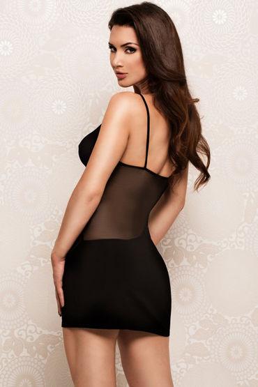 Erolanta Мини платье, черное На тонких бретельках