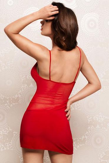 Erolanta Мини платье, красное На тонких бретельках