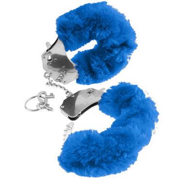 Pipedream Furry Cuffs, синие Наручники с мехом